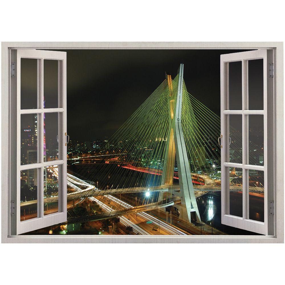 Adesivo de Parede  Janela São Paulo  1,4x1m