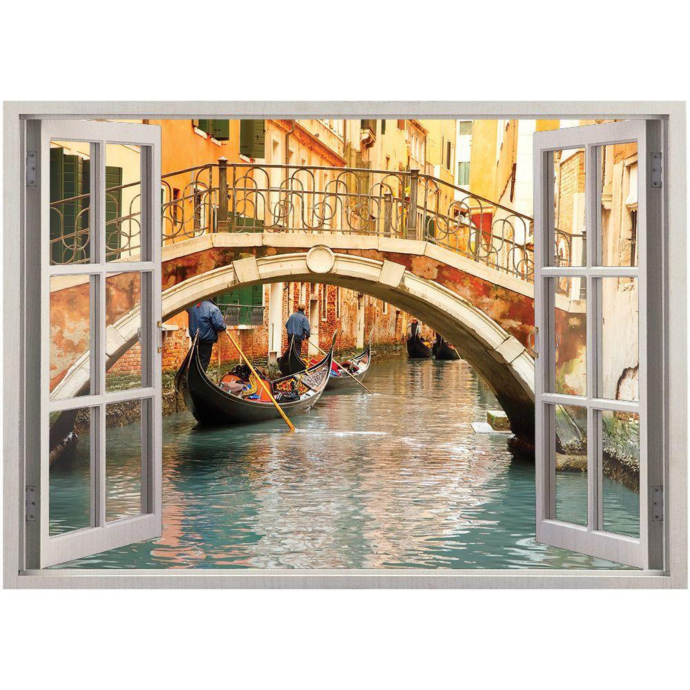 Adesivo de Parede  Janela Veneza 1,4x1m