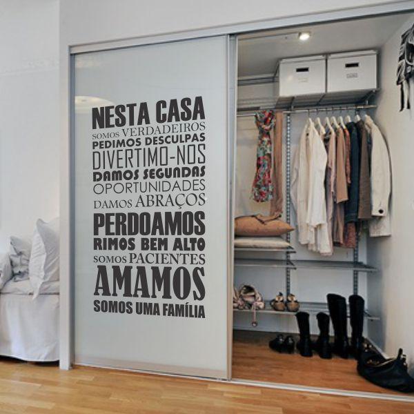 Adesivo Decorativo Frase Nessa Casa