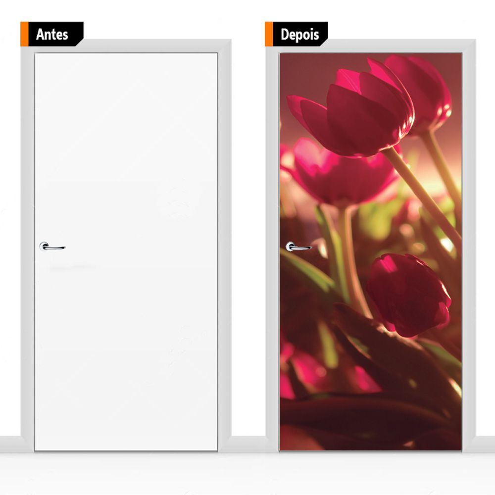 Adesivo Decorativo Para Porta Textura Flo01