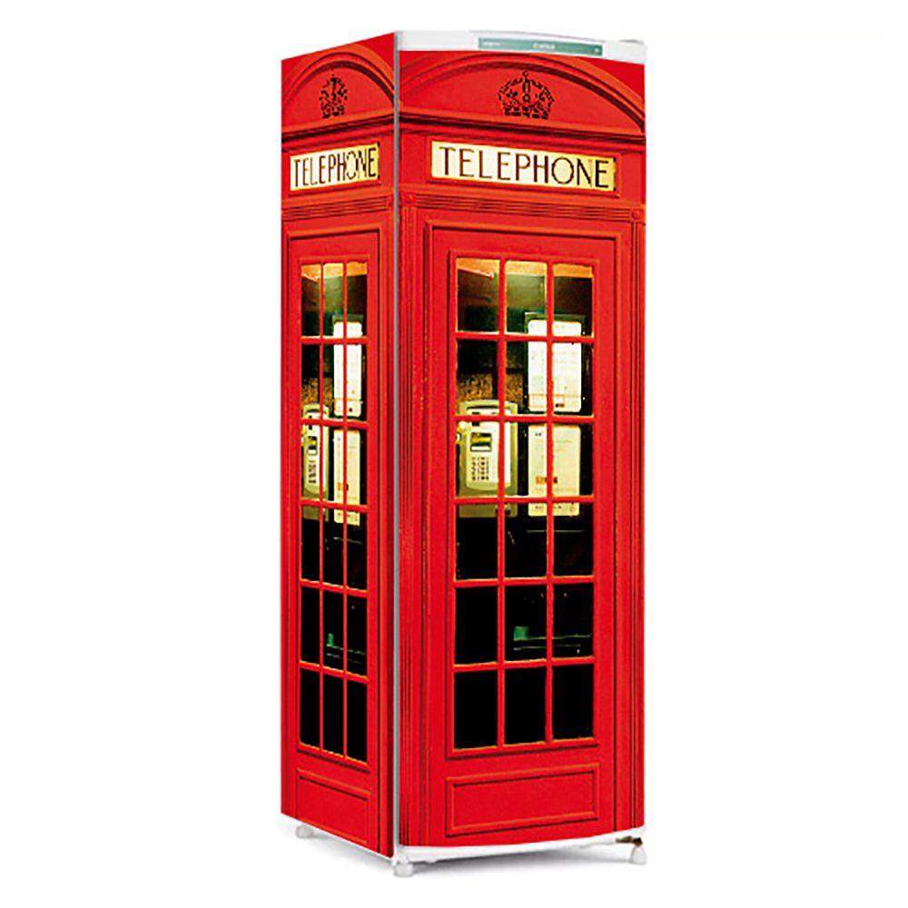 Adesivo Para Geladeira  Cabine Telefônica De Londres