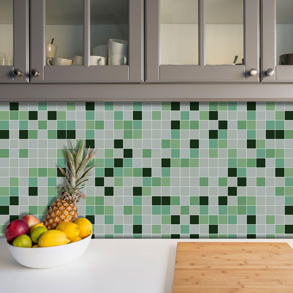 Azulejos Adesivos Pastilha Cozinha Banheiro Decoração Mod6
