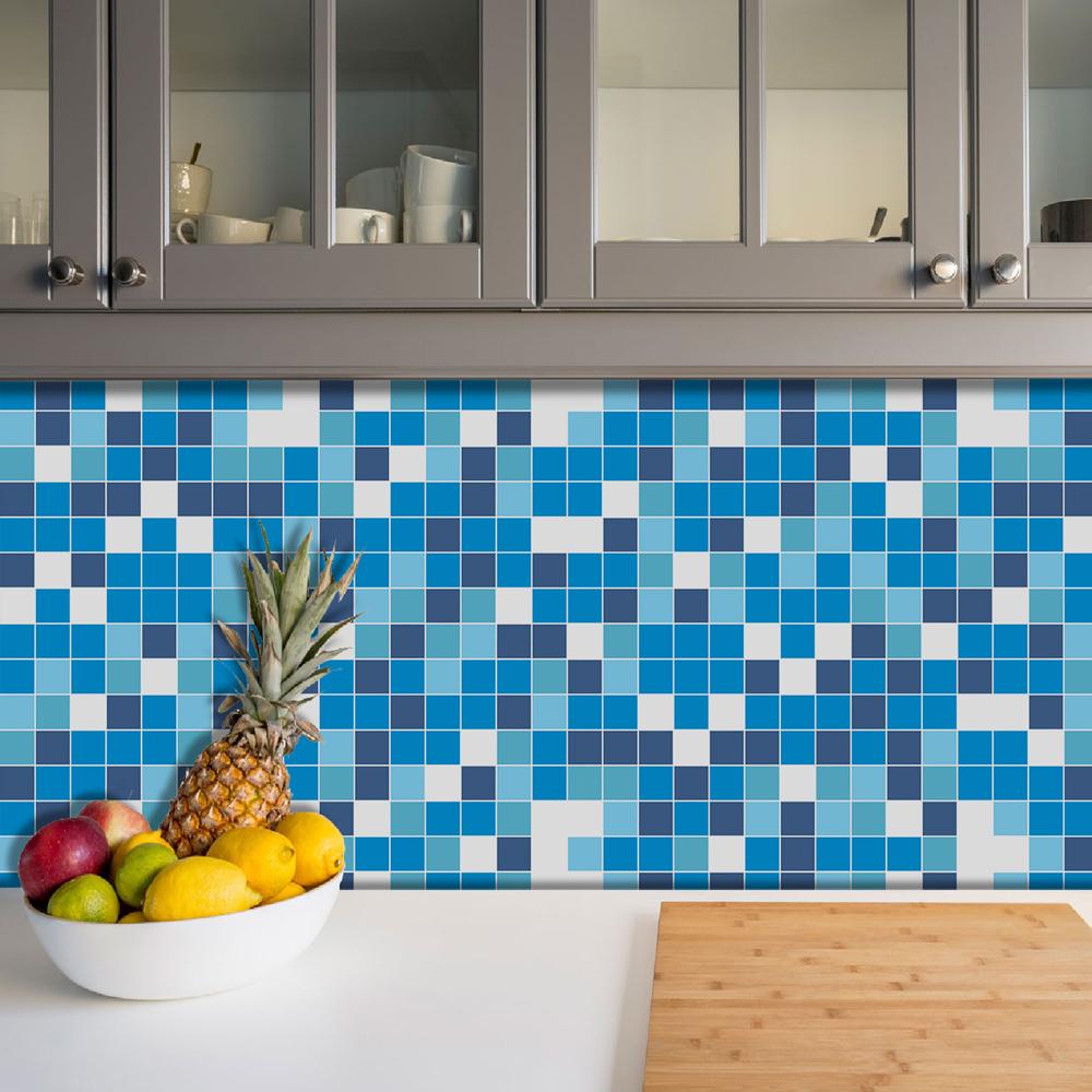 Azulejos Adesivos Pastilha Cozinha Banheiro Decoração Mod7