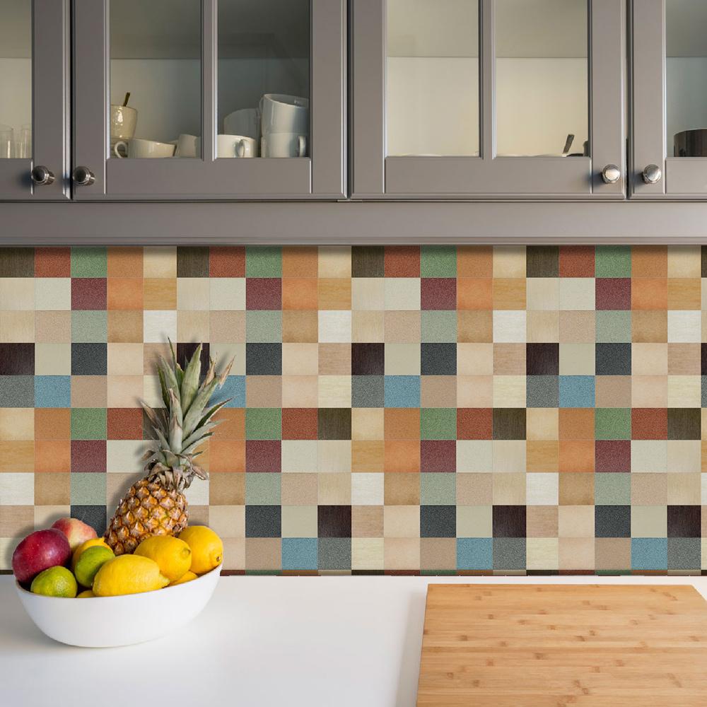 Azulejos Adesivos Pastilha Cozinha Banheiro Decoração Mod9