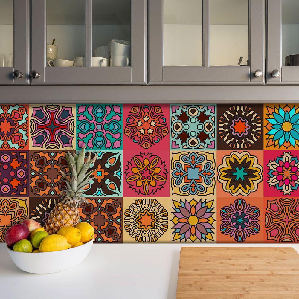 Adesivo Azulejo Português Ladrilho Para Cozinha Mod10