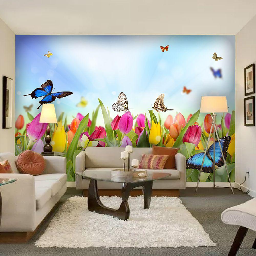 Painel Adesivo Fotográfico Floral Flores 7,2m² M12