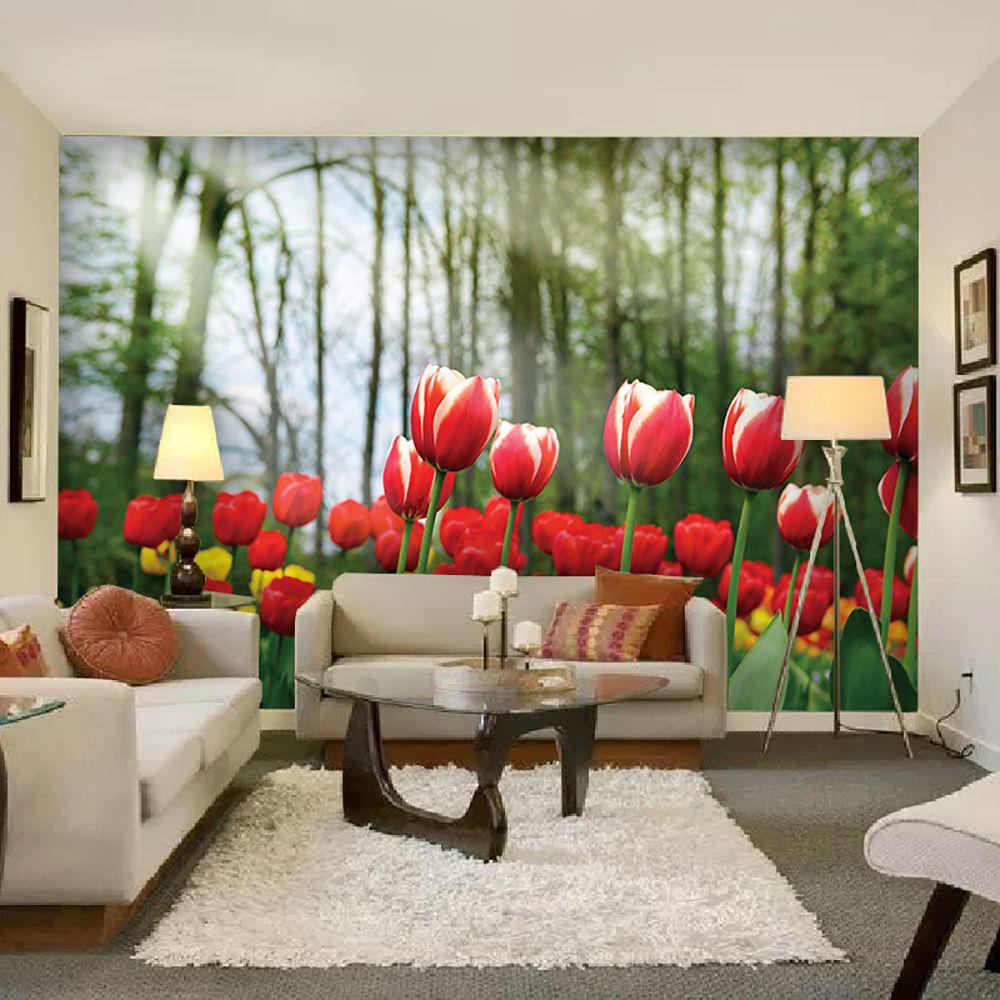 Painel Adesivo Fotográfico Floral Flores 7,2m² M9