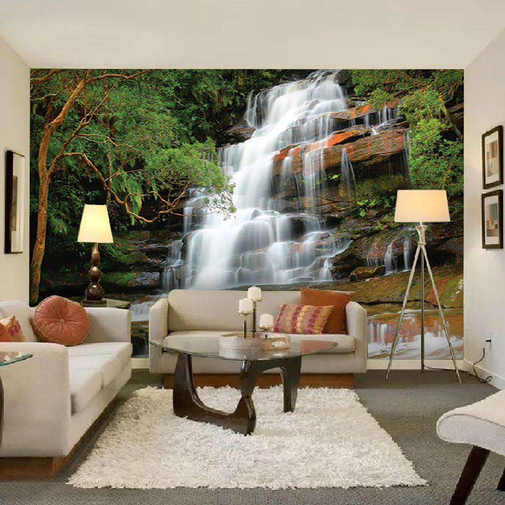 Painel Adesivo Fotográfico Parede Cachoeira 7,2m² M1