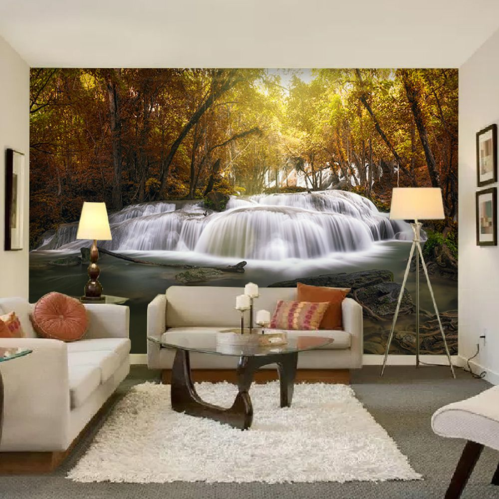 Painel Adesivo Fotográfico Parede Cachoeira 7,2m² M13