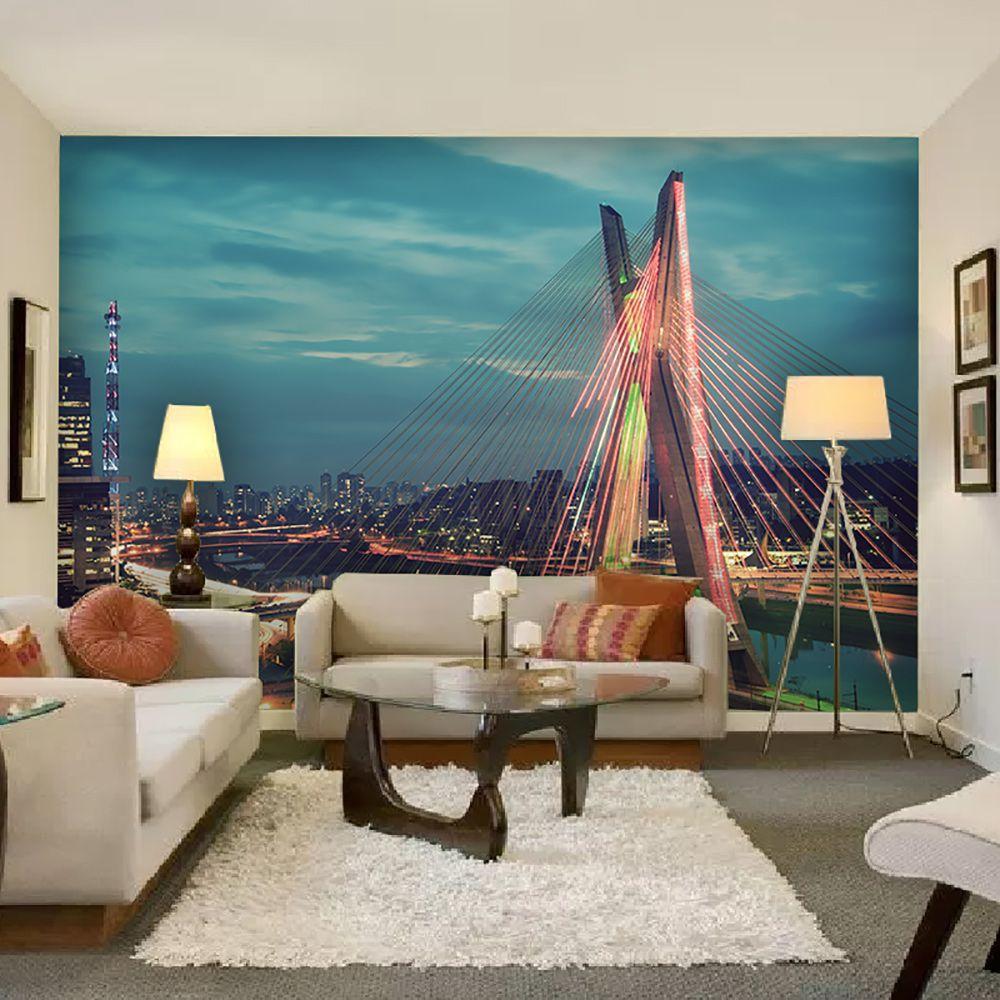 Painel Adesivo Fotográfico Parede Cidades Países 7,2m² M2