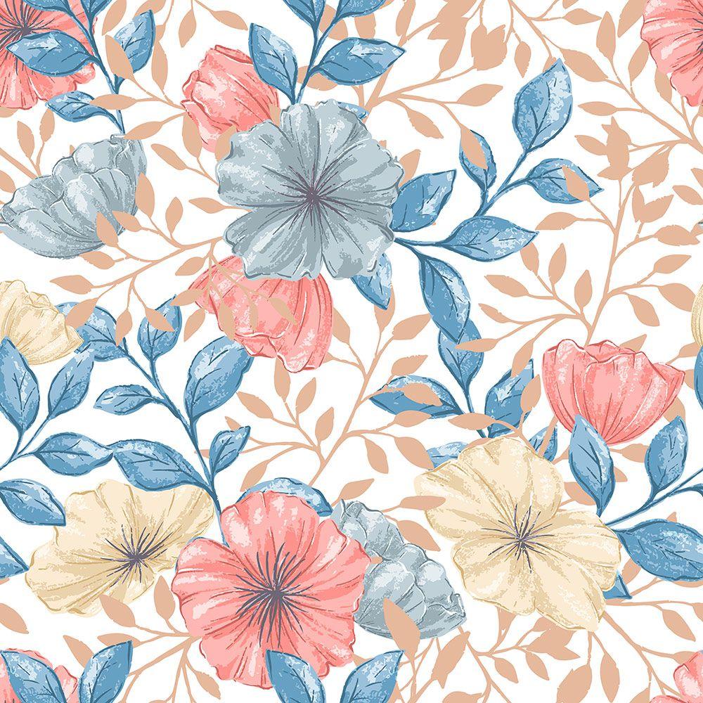 Painel Adesivo Papel Parede Flores Florais Natureza Gigantes- Ref PFG02