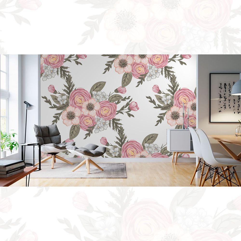 Painel Adesivo Papel Parede Flores Florais Natureza Gigantes- Ref PFG06