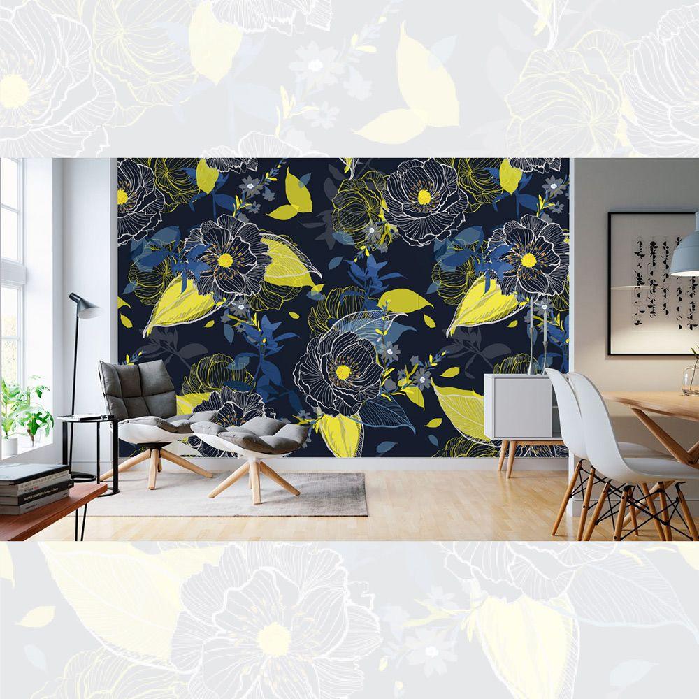 Painel Adesivo Papel Parede Flores Florais Natureza Gigantes- Ref PFG11