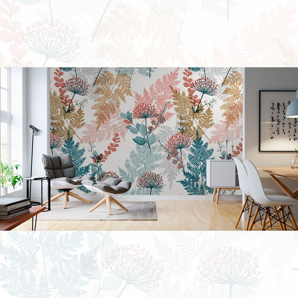 Painel Adesivo Papel Parede Flores Florais Natureza Gigantes- Ref PFG12