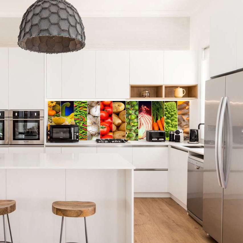 Painel Fotográfico Adesivo Temperos Cozinha