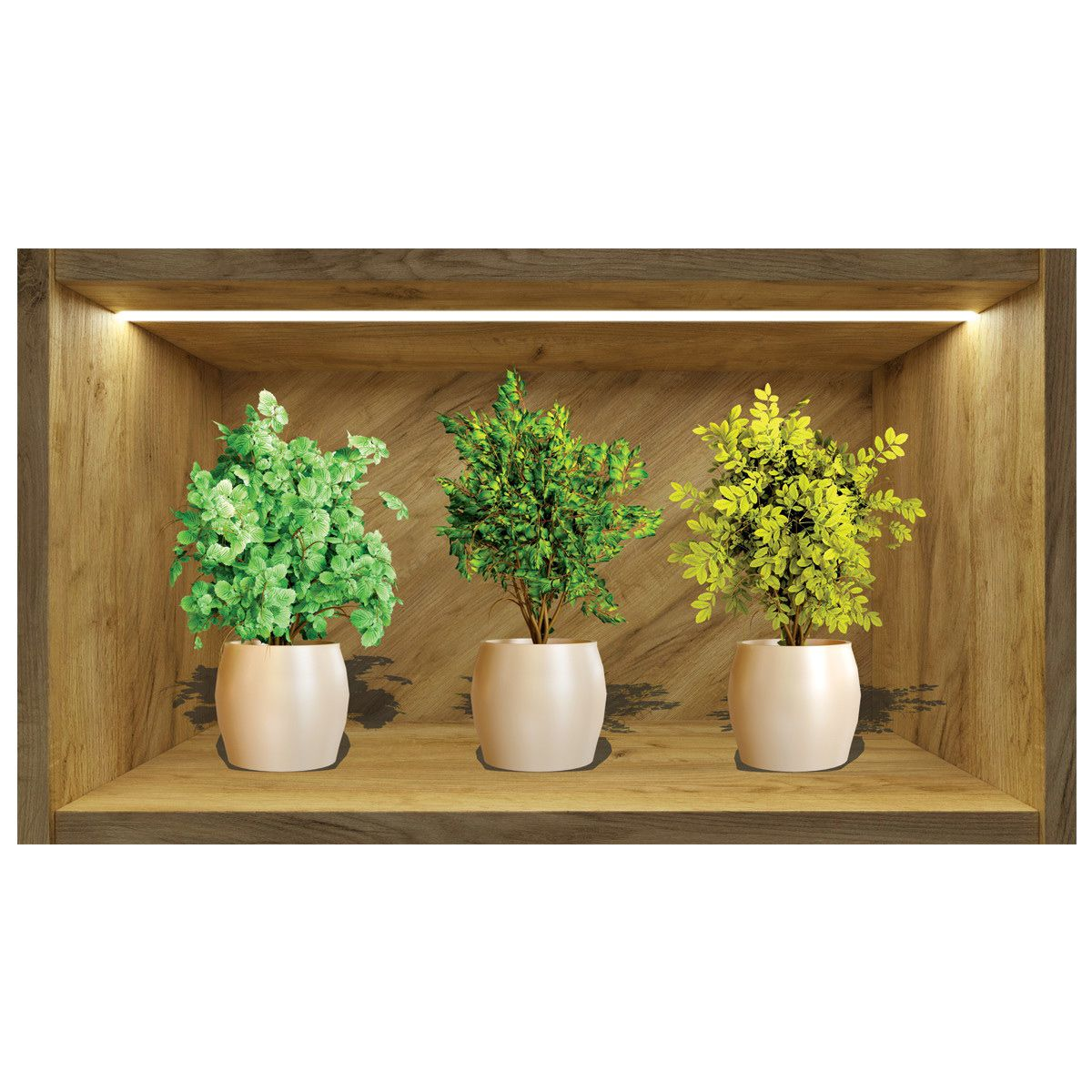 Painel Quadro 3d Nicho Adesivo Vaso Floral Exclusividade Mod1