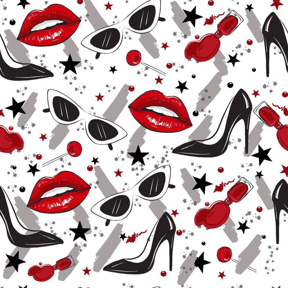 Papel Adesivo Contact Parede Moveis Top Batom Sapatos Luxo