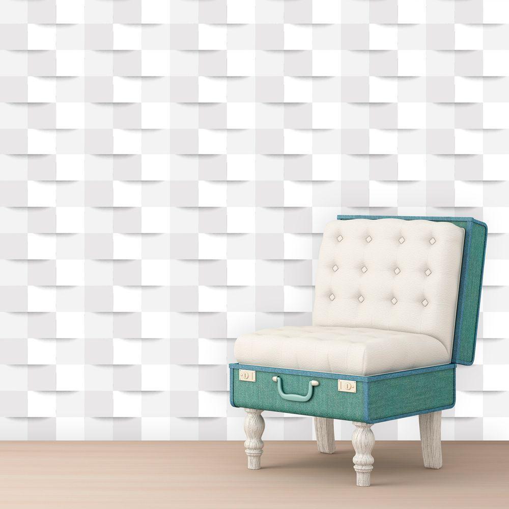 Papel De Parede 3d Branco 3 Autocolante Rolo 0,50x3,00