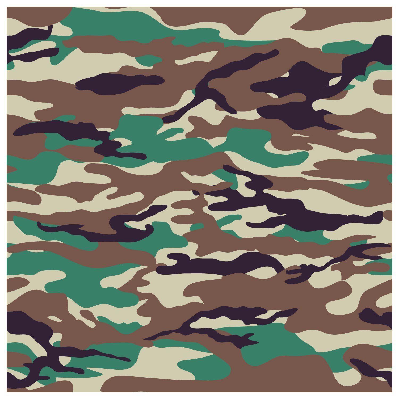 Papel De Parede Adesivo Decorativo Camuflado Camuflagem M4