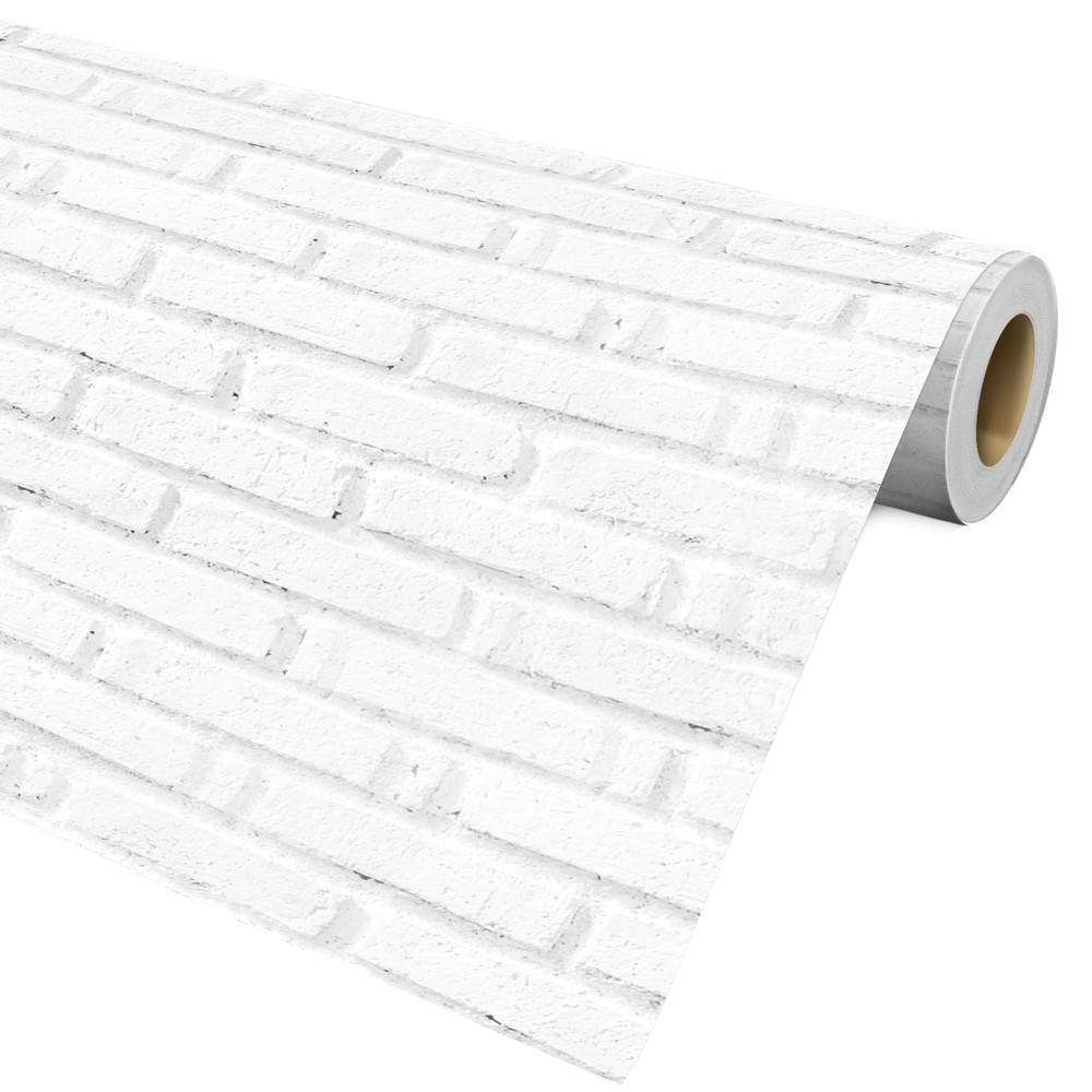 Papel De Parede Auto Adesivo Decorativo Tijolo Branco Ref28