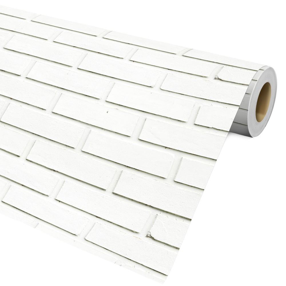 Papel De Parede Auto Adesivo Decorativo Tijolo Branco Ref29