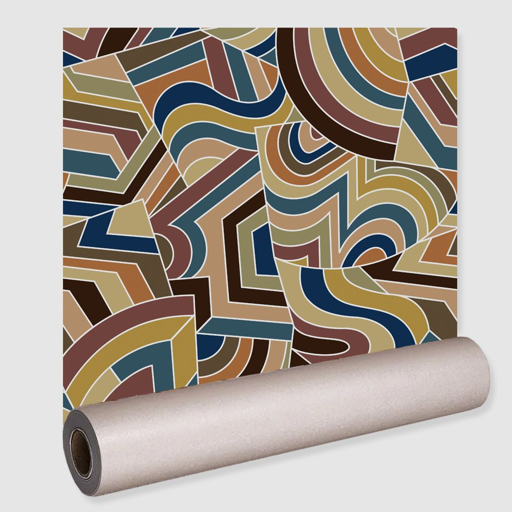 Papel De Parede Autocolante Adesivo Ajuste Abstrato 0,5x3m