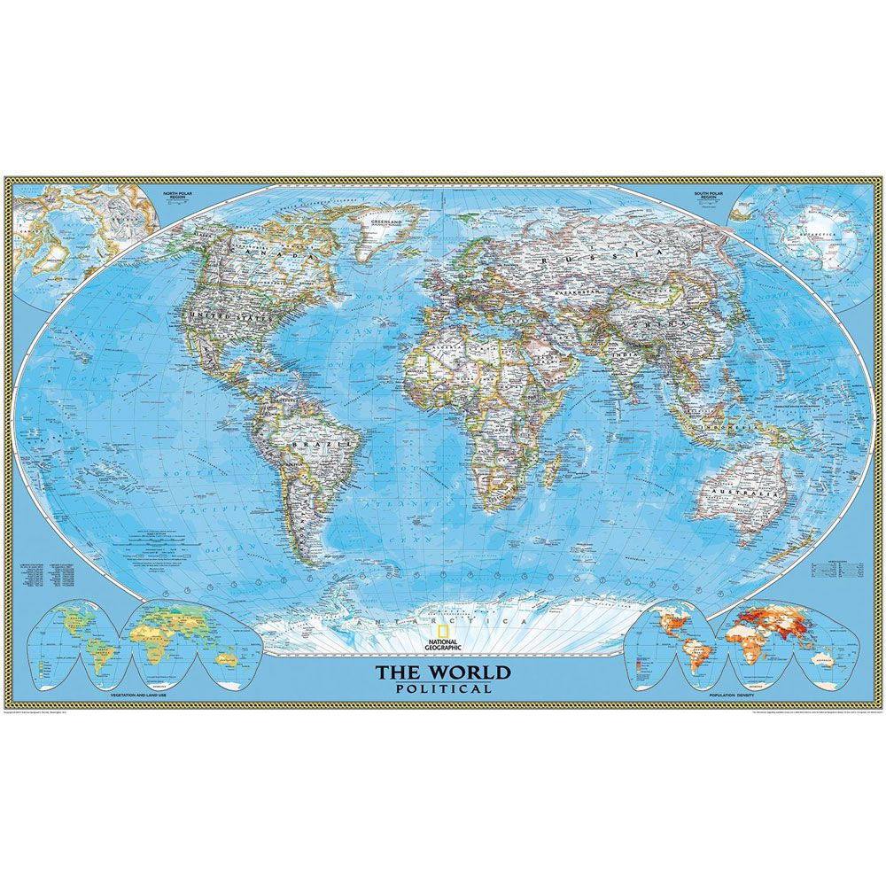 Papel De Parede Decorativo Mapa Mundi Gigante Fosco