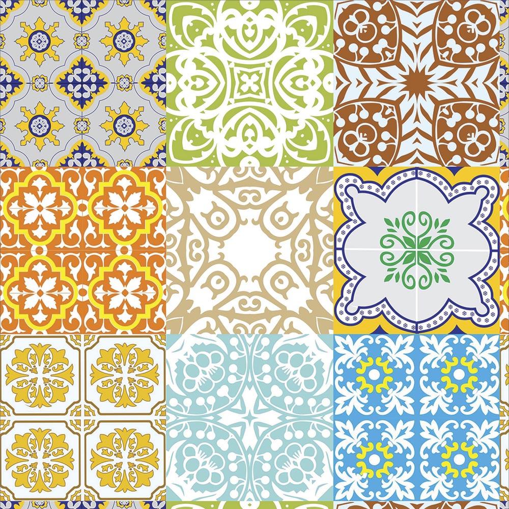 Papel De Parede Para Cozinha Azulejo Português Lavável Mod11