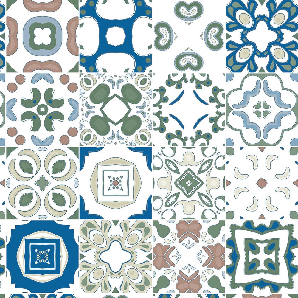 Papel De Parede Para Cozinha Azulejo Português Lavável Mod14