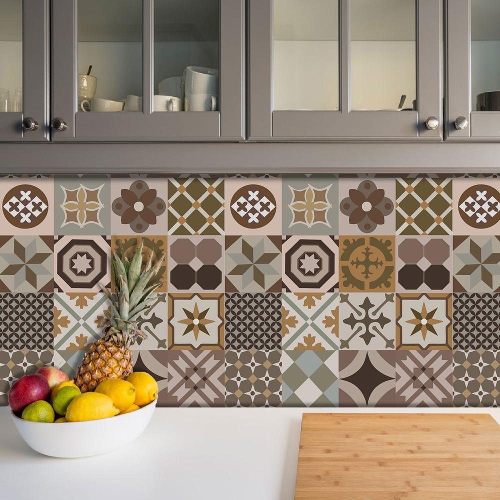 Papel De Parede Para Cozinha Azulejo Português Lavável Mod1