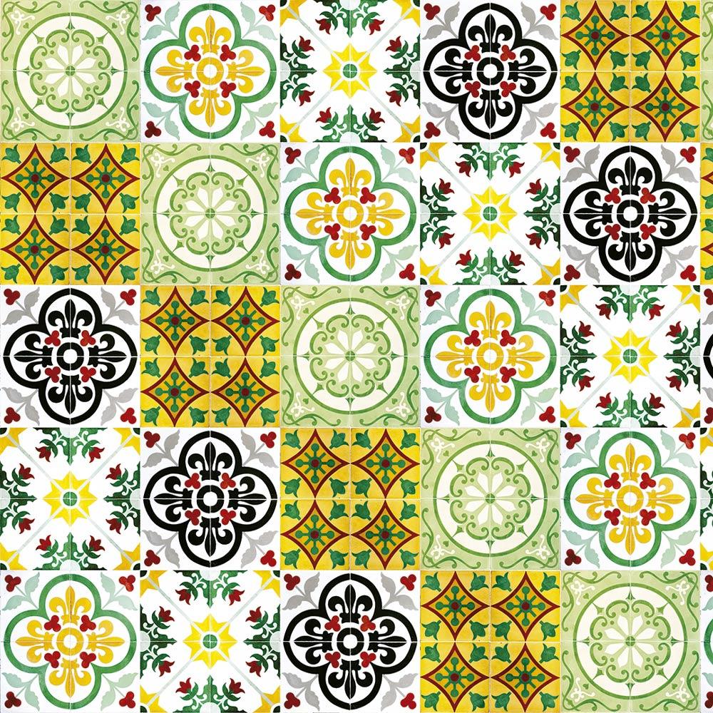 Papel De Parede Para Cozinha Azulejo Português Lavável Mod20
