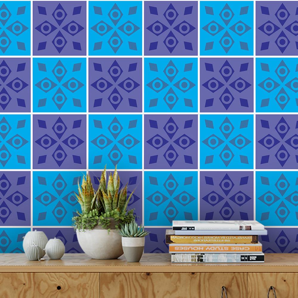 Papel De Parede Para Cozinha Azulejo Português Lavável Mod27