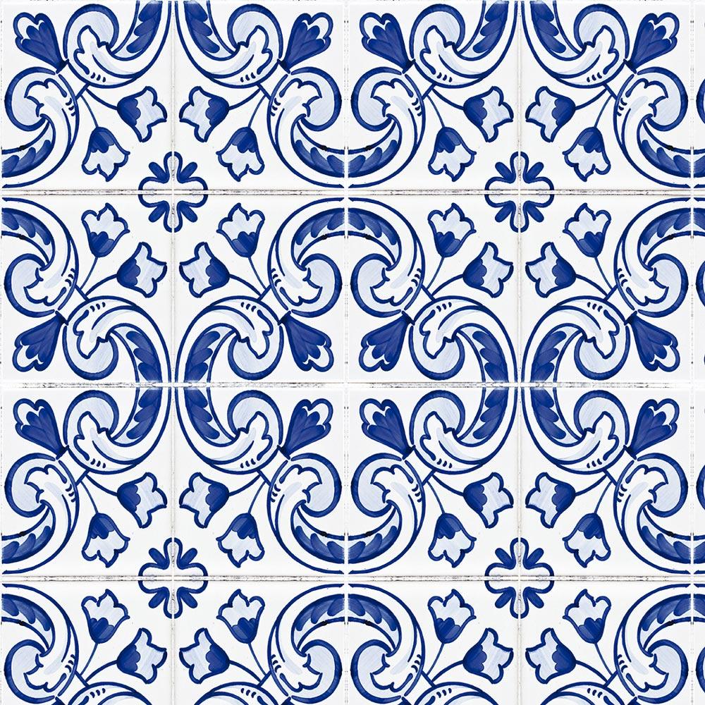 Papel De Parede Para Cozinha Azulejo Português Lavável Mod29