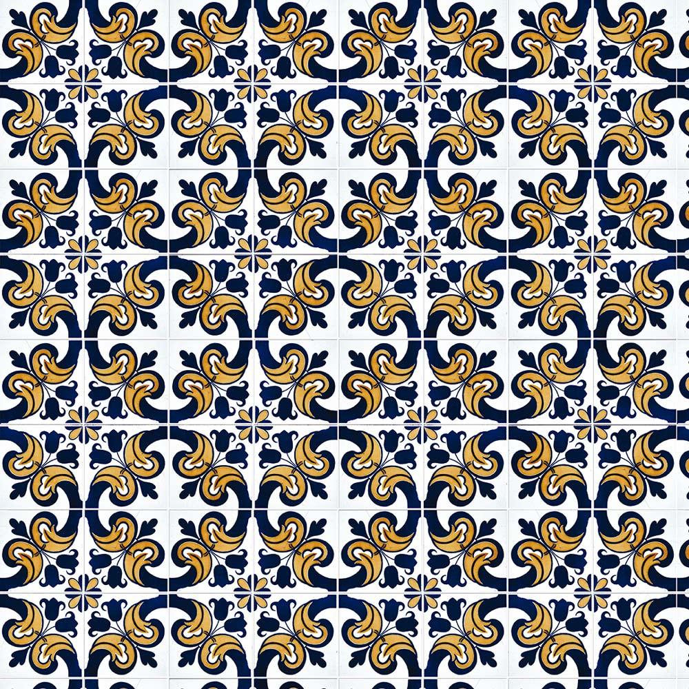 Papel De Parede Para Cozinha Azulejo Português Lavável Mod34