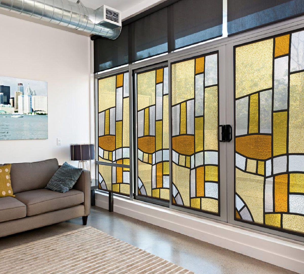 Vitral Adesivos Para Vidros Portas Janelas Ref M2