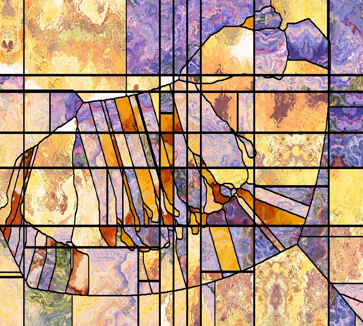 Vitral Adesivos Para Vidros Portas Janelas Ref M8