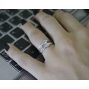 Anel Feminino Prata 925 Zirconias Brancas Luxo
