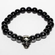 Pulseira Hematita Skull