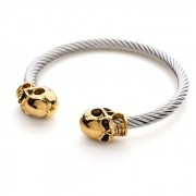 Pulseira Masculina Skull Gold