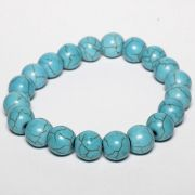 Pulseira Pedra Natural Howlita Azul