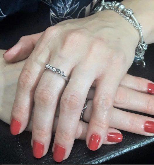 Anel Feminino Estilo Pandora Prata 925 - Laço Com Cristais