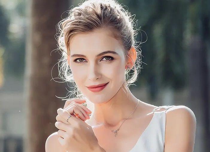 Anel Feminino Estilo Pandora Prata Coração Princesa Da Noite