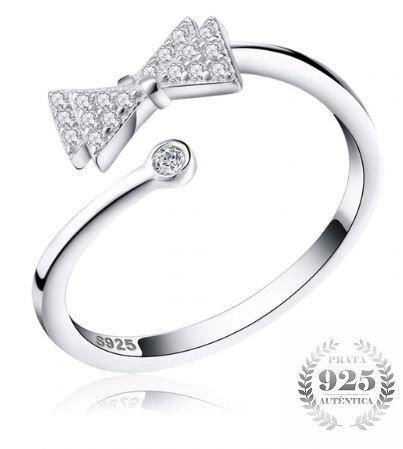 Anel Feminino Prata 925 Gravata