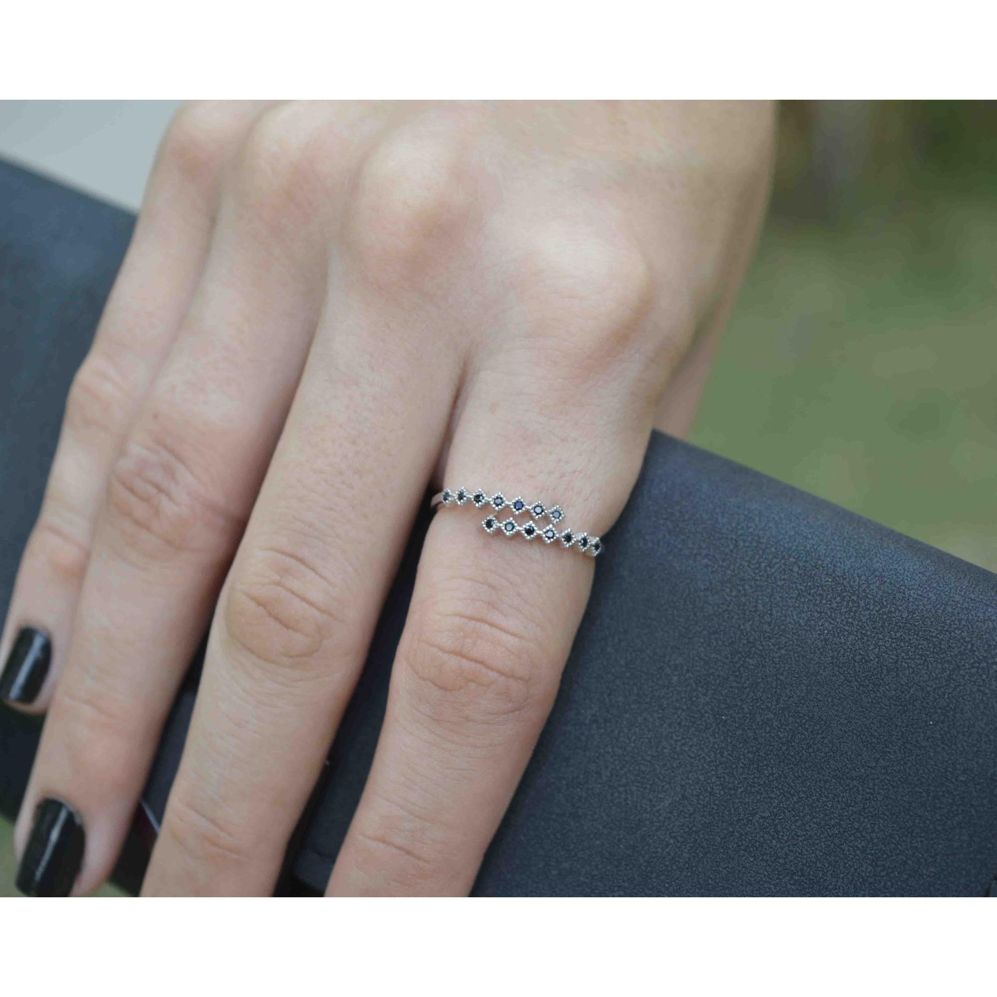 Anel Feminino Prata 925 Luxo Zirconia