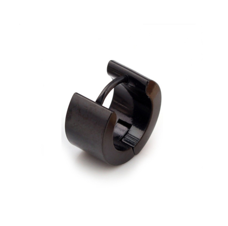 Brinco Masculino De Argola Grossa Liso - 6mm de Largura - PAR