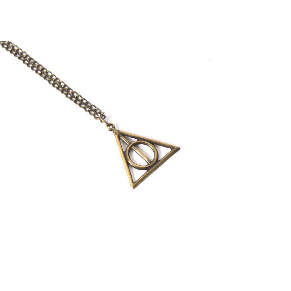 Colar Corrente Relíquias da Morte Harry Potter