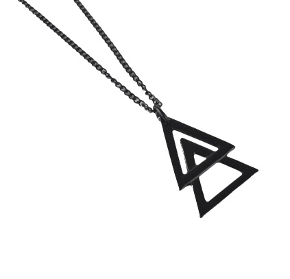 Colar Corrente Triângulo - Black Edition
