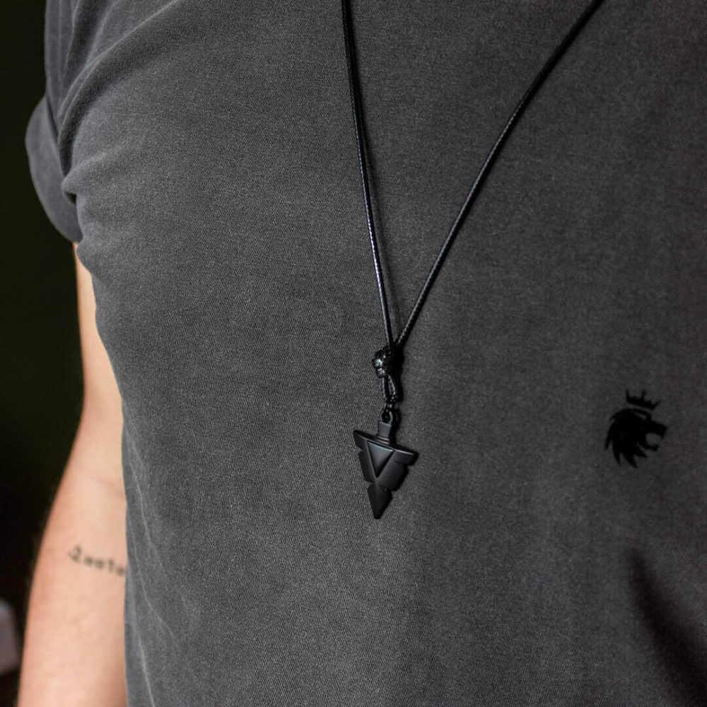 Colar Couro Arrow - Black Edition