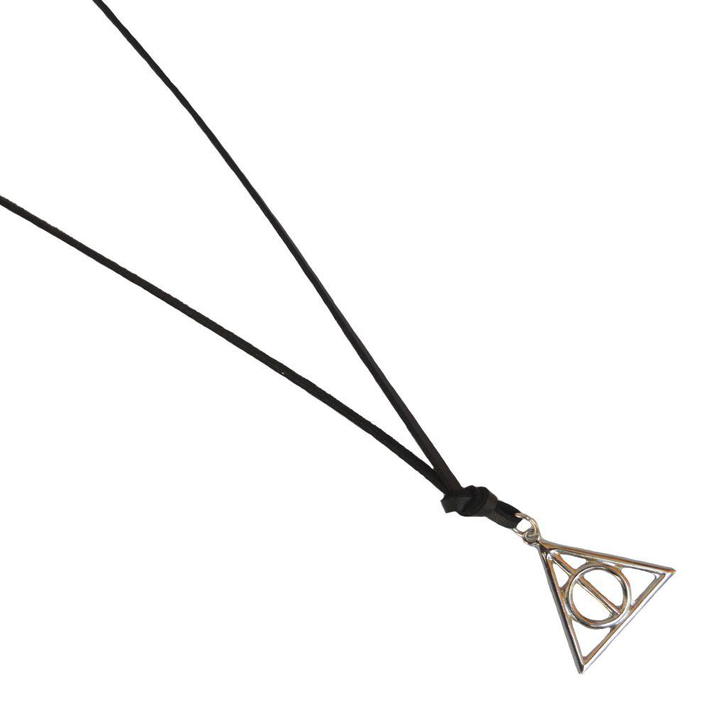 Colar De Couro Preto Pingente Harry Potter