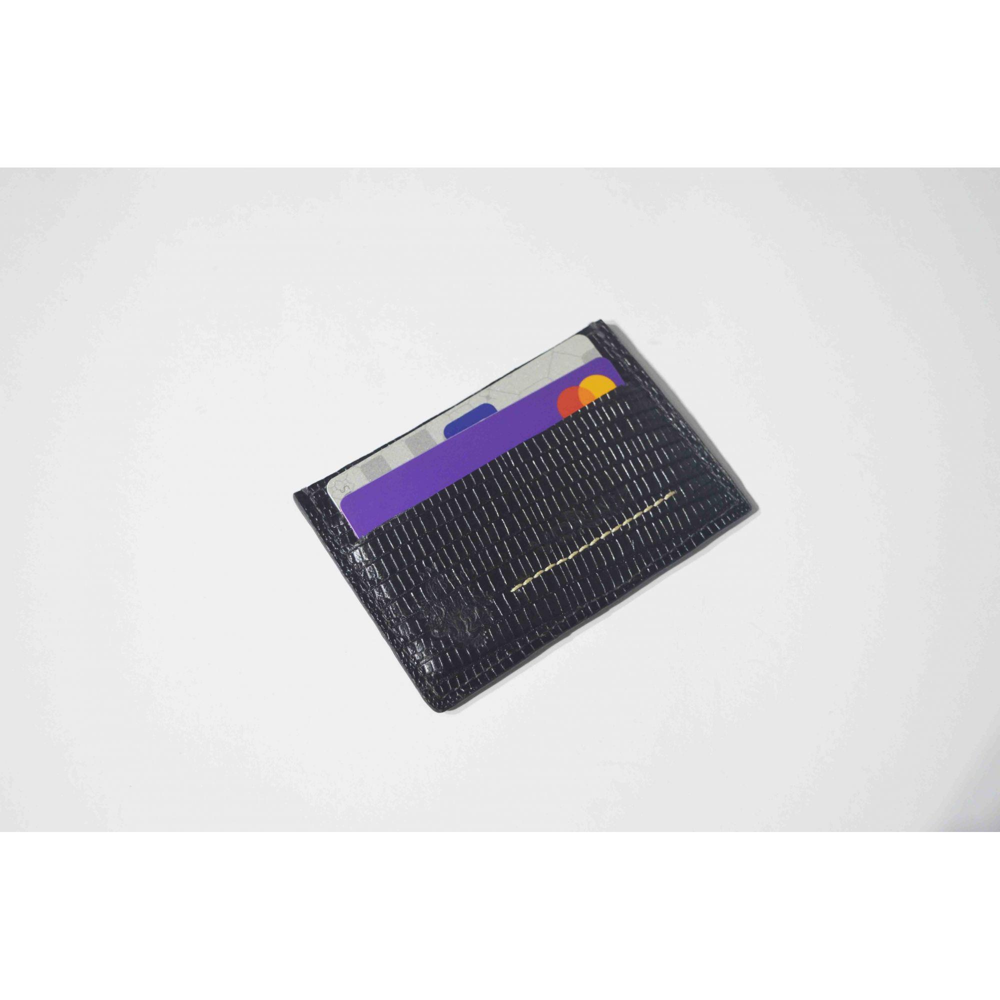Porta Cartão Couro Legitimo Black